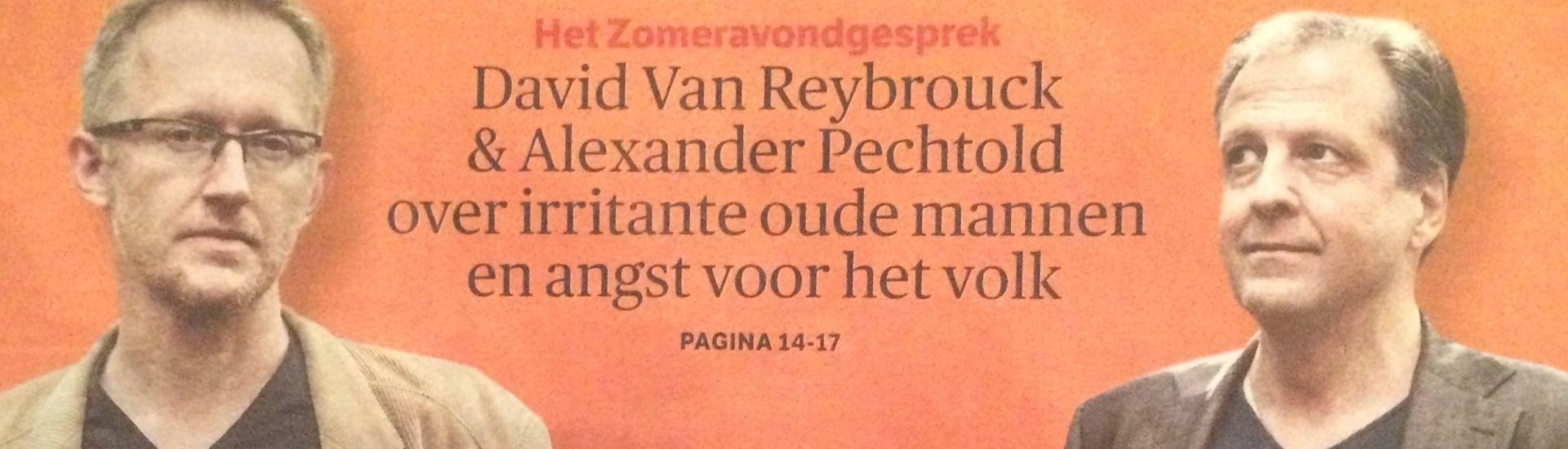 David van Reybrouck en Alexander Pechtold